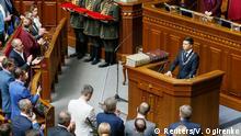 Ukraine Kiew Einführung von Präsident Wolodymyr Selenskyj