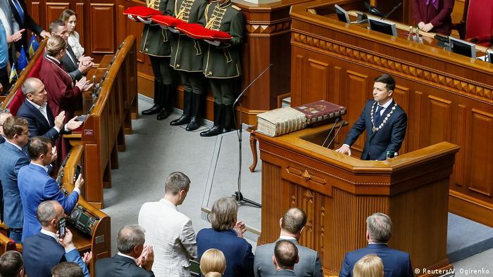 Президент України Володимир Зеленський під час інавгурації 20 травня