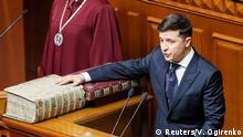 Ukraine Kiew Amtseid von Präsident Wolodymyr Selenskyj