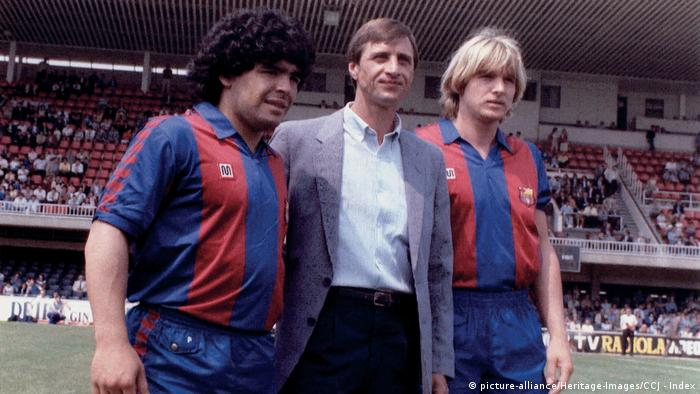 Diego Armando Maradona, Hendrik Johannes Cruyff und Bernd Schuster