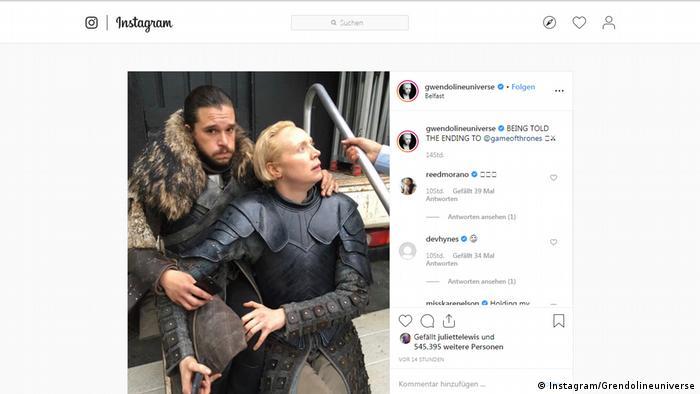 Screenshot Instagram Gwendolineuniverse