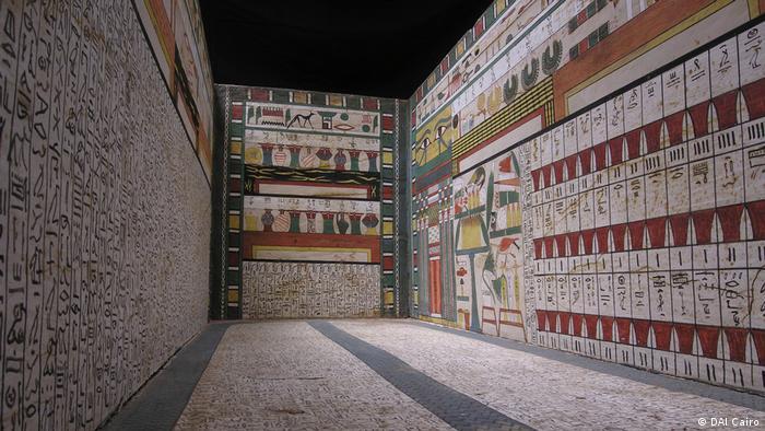 Hölzerner ägyptischer Grabkomplex aus Luxor (DAI Cairo)