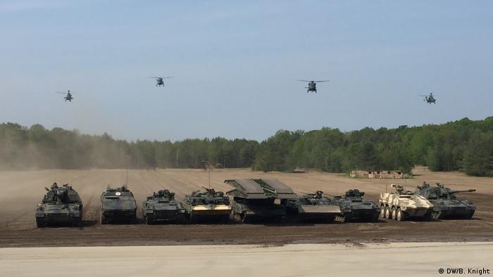 Angela Merkel Inspects Nato Troops In Germany Germany