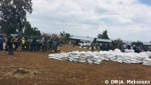 Internally displaced people complaints on food aid Date: 18.05.2019 Location: Central Gondar, Amhara region Caption: Former IDPs, who are recently returned to their village in Northern Ethiopia, complained that they are not receiving enough food aid. Autor/Copyright: Alemnew Mekonnen Schlagworte: Ethiopia, Amhara region, Central Gondar, Qimant, Ethiopia conflict, food aid, IDPs