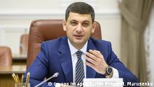 Ukraine Premierminister Wolodymyr Groisman