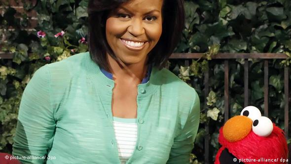 Michelle Obama in der Sesamstraße mit Elmo Flash-Galerie