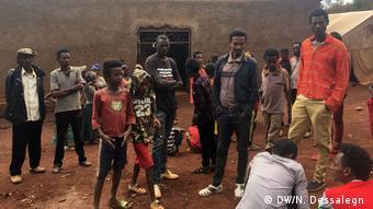 Äthiopien Vertriebene Menschen in Mendi