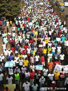Guinea-Bissau Demonstrationen in Bissau