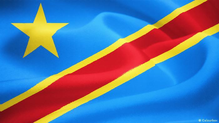 Flagge der DR Kongo