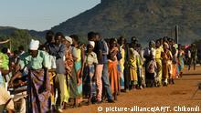 Malawi Wahlen Wahlurne