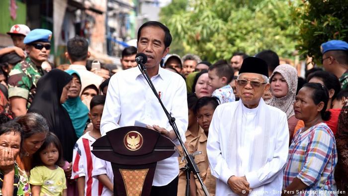Indonesien Wahlsieger Jokowi-Ma'ruf ( Rusman - Biro Pers Sekretariat Presiden)