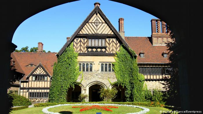 Front view of Cecilienhof Palace in Potsdam