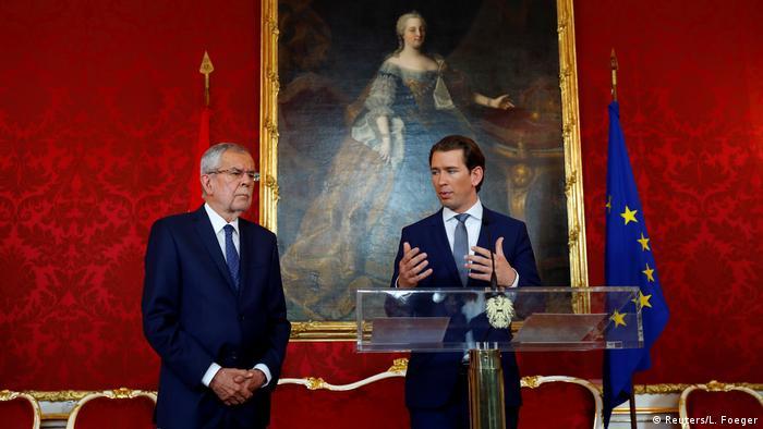 Österreich Wien PK Bundespräsident Van der Bellen Kanzler Kurz