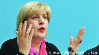 Menschenrechtskommissarin des Europarats Dunja Mijatovic (picture-alliance/dpa/MTI/L. Soos)