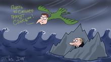 Karikatur von Sergey Elkin - Selensky plädiert für härtere Sanktionen gegen Russland