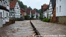 Deutschland Hochwasser Nordhessen