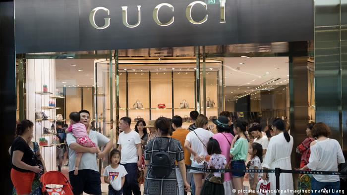 A Gucci store in Hainan (picture alliance/dpa/Imaginechina/Wei Liang)
