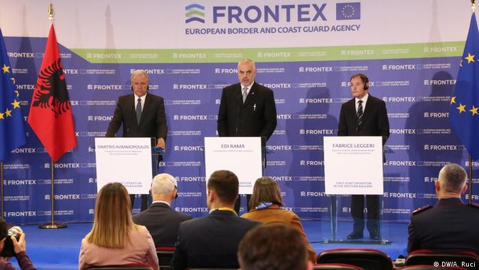 Albanien Tirana | Start Frontex-Mission, mit Premierminister Edi Rama
