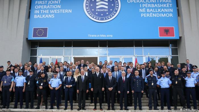 Albanien Tirana   Start Frontex-Mission