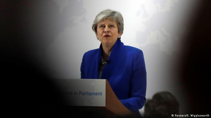 England Brexit Rede Premierministerin Theresa May (Reuters/K. Wigglesworth)
