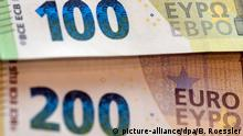 Deutschland Vorstellung Neue 100- und 200-Euro-Scheine in Frankfurt