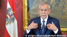 Wien Rede Bundespräsident Van der Bellen Regierungskrise
