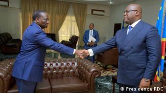 Le Premier ministre Sylvestre Ilunga Ilunkamba et le président Félix Tshisekedi