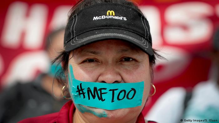 Одна из активисток движения #MeToo