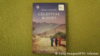 Buchcover Celestial Bodies von Jokha al-Harthi.