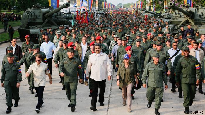 Venezuela Carabobo Maduro Militärs Marsch der Loyalität (AFP/HO)