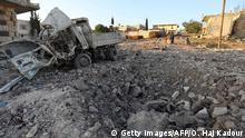 Syrien Zerstörung nach Luftangriff in Idlib