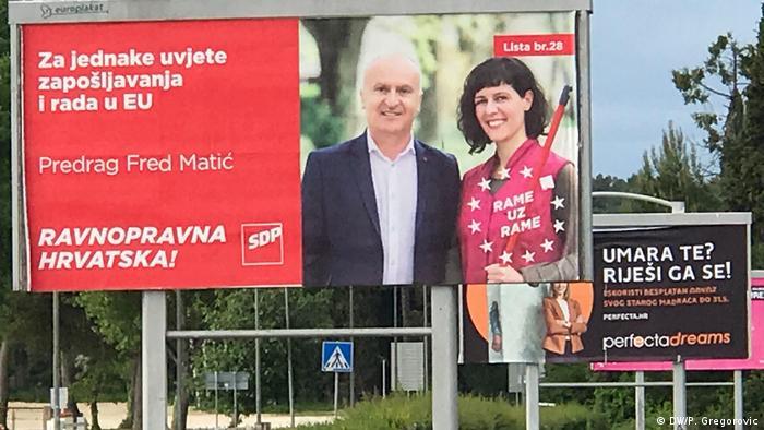 Kroatien - Wahlplakate für die Europa-Wahl - liste SDP