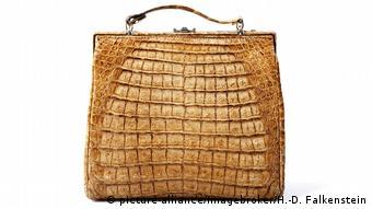 Crocodile leather bag
