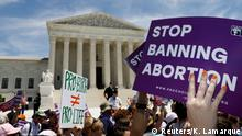 Abortion rights activists rally outside the U.S. Supreme Court in Washington, U.S., May 21, 2019. REUTERS/Kevin Lamarque