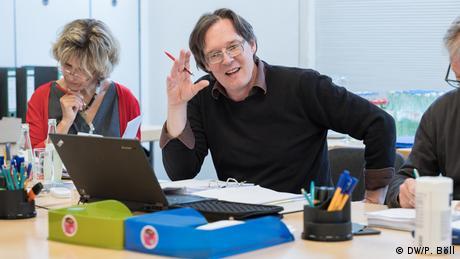 Ramón García-Ziemsen durante el Assessment center de 2019 (DW/P. Böll)
