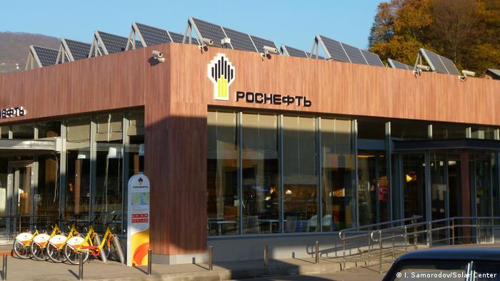 Солнечные батареи на АЗС Роснефти в Сочи