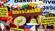 Philippinen Protest gegen Müll aus Kanada