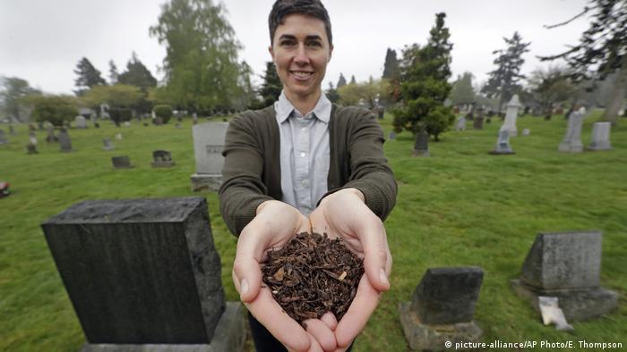 Katrina Spade CEO of Recompose holding compost