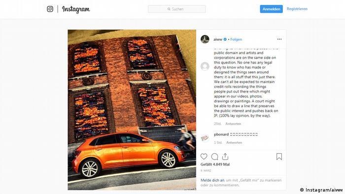 Screenshot - Ai Weiwei verklagt Volkswagen