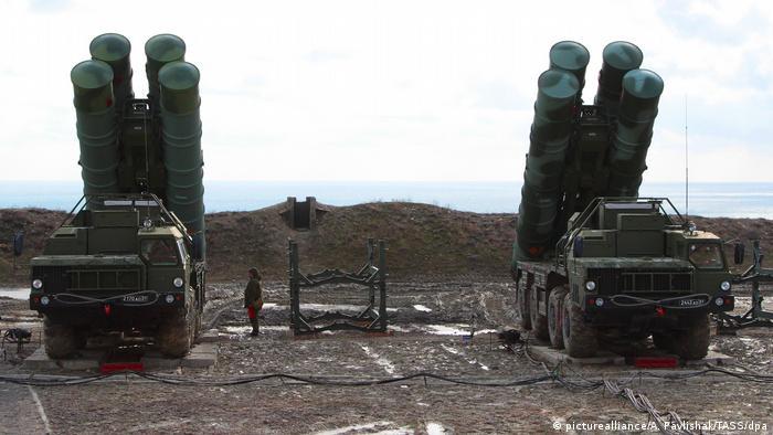 S-400 Flugabwehrraketenregiment auf der Krim im eingesetzt