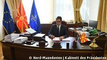Nord-Mazedonien Stevo Pendarovski, Präsident | Unterzeichnung von Gesetzen