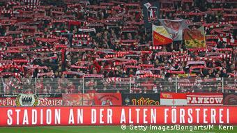 Fußball Fans von Union Berlin
