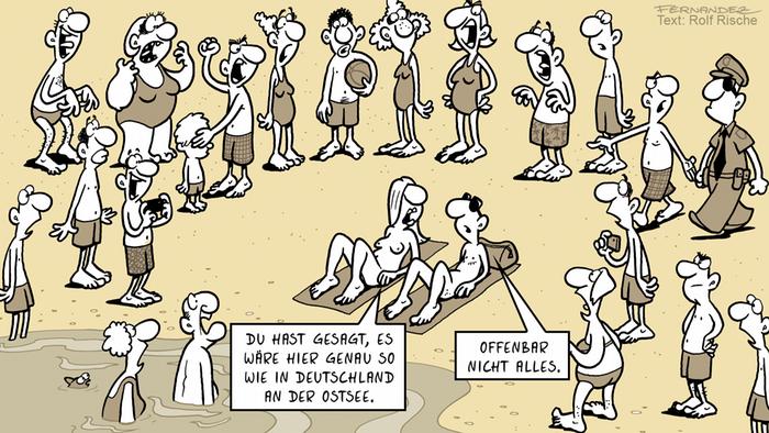 DW Euromaxx Comics von Fernandez Verstehen Sie Deutsch Strand