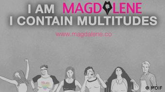 Campaign banner of Indonesian website Magdalene saying I am Magdalene - I contain multitudes