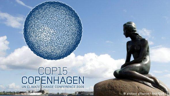 Dänemark Logo COP 15 Klimakonferenz Kopenhagen und Meerjungfrau Flash-Galerie