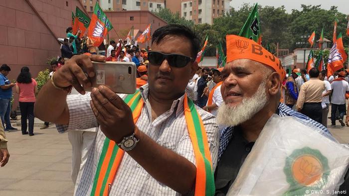 Indien Wahlen Feier im Parteisitz der BJP (DW/O. S. Janoti)