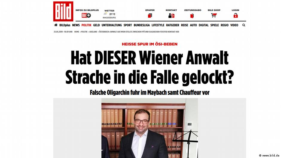 Screenshot der Website www.bild.de