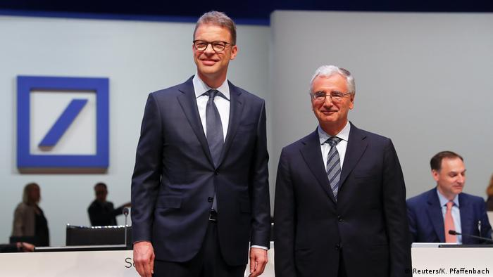 Deutsche Bank's Christian Sewing and Paul Achleitner