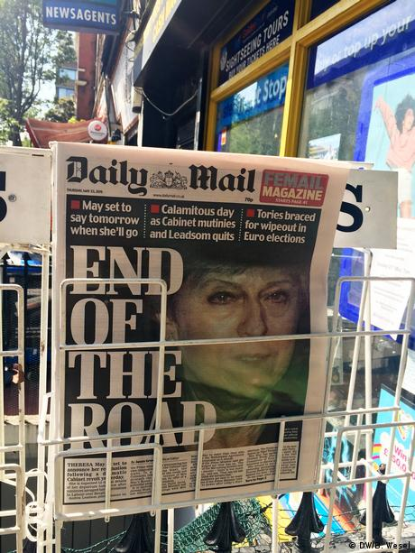 Reportage London vor Europawahl 2019 Daily Mail Theresa May