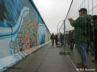 The East Side Gallery, first opened in 1990, is the Berlin Wall's longest remaining stretch. The gallery has been restored recently for the 20th anniversary of the Berlin Wall's fall. RIA Novosti November 2009